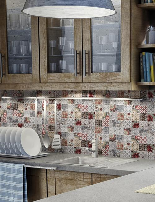 Patchwork Tile Designs, Beautiful Bathroom And Kitchen Backsplash Ideas