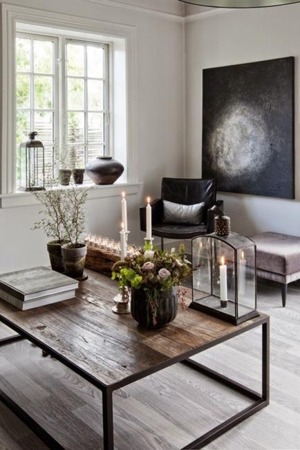 Black and White Decorating in Eclectic Style with Industrial ...