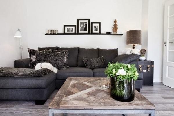 Black and White Decorating in Eclectic Style with Industrial Accents