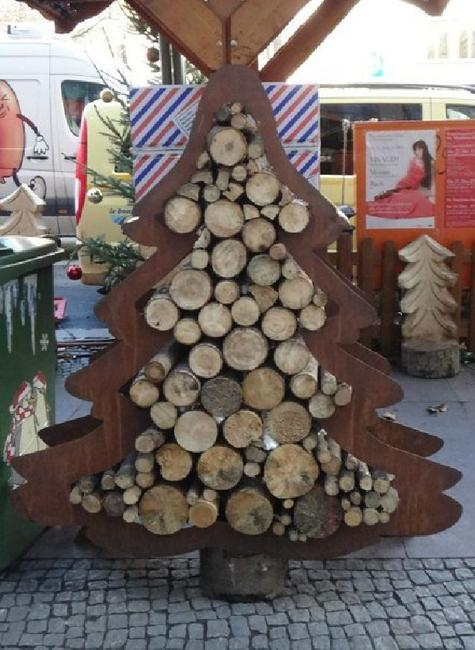 outdoor wood storage solutions and yard decorations