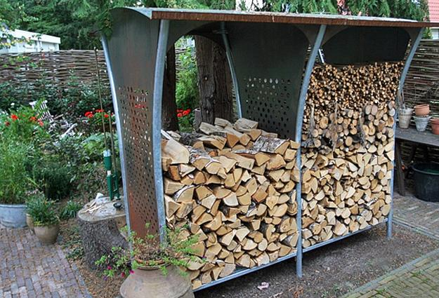 Creative firewood storage ideas turning wood into beautiful yard - Outdoor Wood Storage Solutions And Yard Decorations