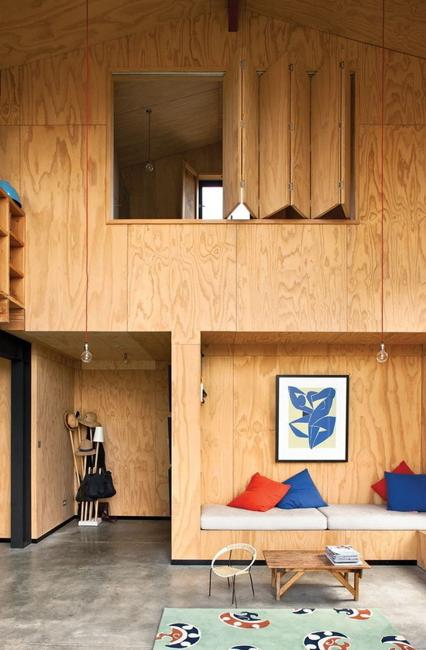 Modern Interior Design Ideas Blending Plywood With