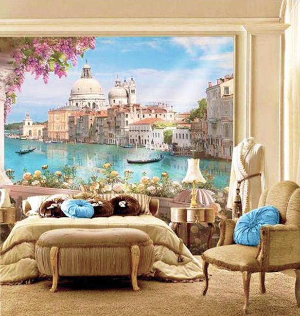 Fresco And Mural Art In Vintage Style Romanticizing Modern