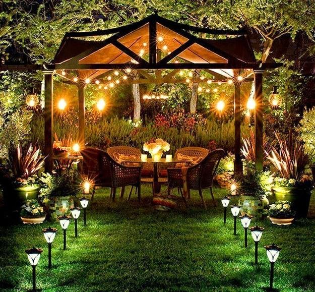10 Bulb Garden Design Ideas: Decorating With Outdoor Lights To Romanticize Backyard Designs