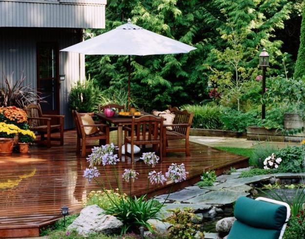 Outdoor Seating Area And Garden Design Ideas
