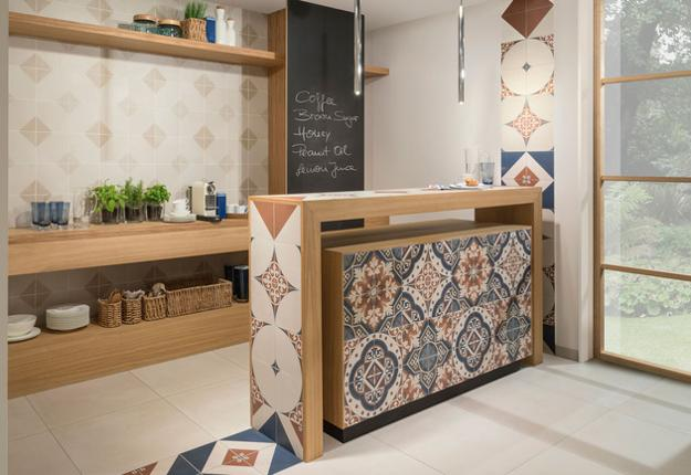 floor and wall tile designs for modern kitchen and bathroom decorating