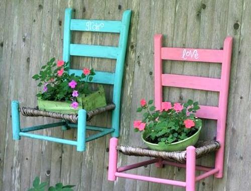 Creative Green Ideas To Make Flower Stands Recycling Wood