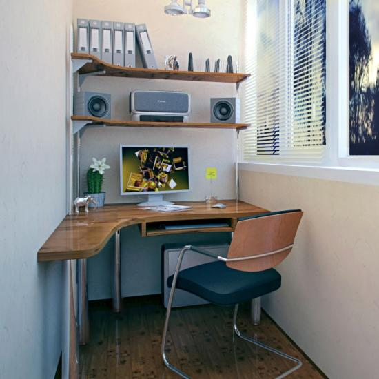 Fortable And Cute Home Office Design Ideas: Space Saving Home Office Ideas Transforming Small Balcony