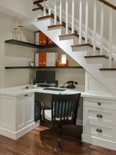 48 Space Saving Ideas For Small Home Office Storage Cool Design Home Office Space