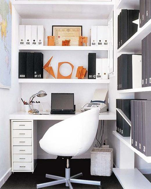 20 Inspiring Home Office Design Ideas For Small Spaces: 22 Space Saving Ideas For Small Home Office Storage