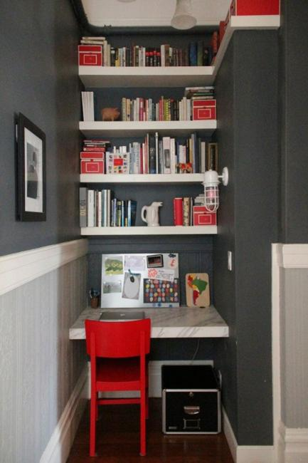 22 space saving ideas for small home office storage - Home decor ideas for small homes ...