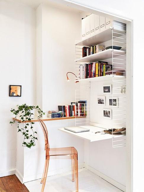 Built In Small Home Office Design