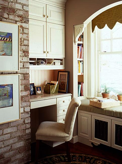Built In Small Home Office Design Ideas. Built In Office Storage Cabinets,  Desk And Shelves