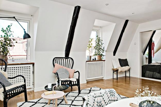 Black And White Decorating In Scandinavian Style
