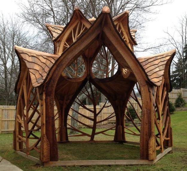 Unique Wooden Gazebo Design