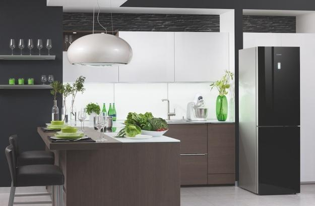 Modern Kitchen Design In Neutral Colors Wooden Cabinets And Accents Green Color