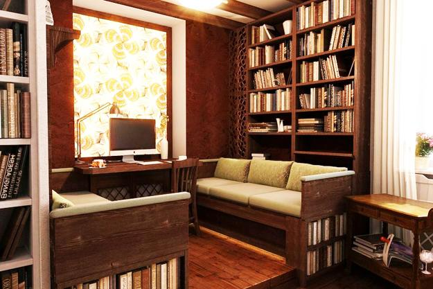 Space Saving Room Furniture Placement Ideas, Putting Bookcases And Shelves  Behind Sofas And Beds
