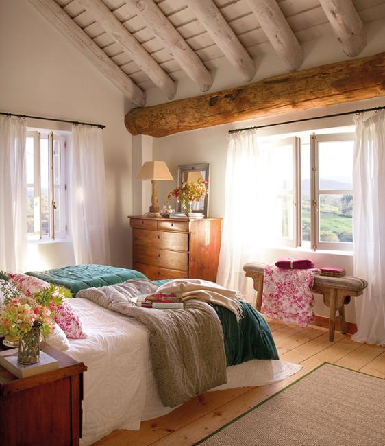 Interior Redesign New Life and Fresh Look to Old ... on country home master bedroom, country home decorating tips, country home decorating exterior, country bedroom bedroom, country home interior decorating,