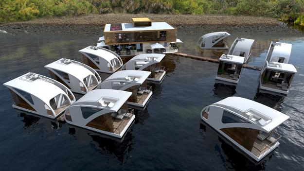 floating houses and interior design ideas