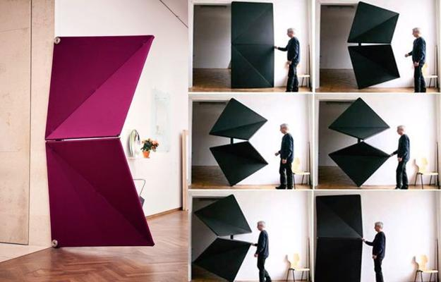 Interior Design Ideas Unusual Doors Made With Rotating Elements