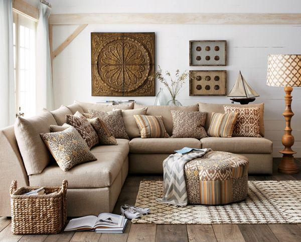 Modern Living Room Decorating In Warm Neutral Colors