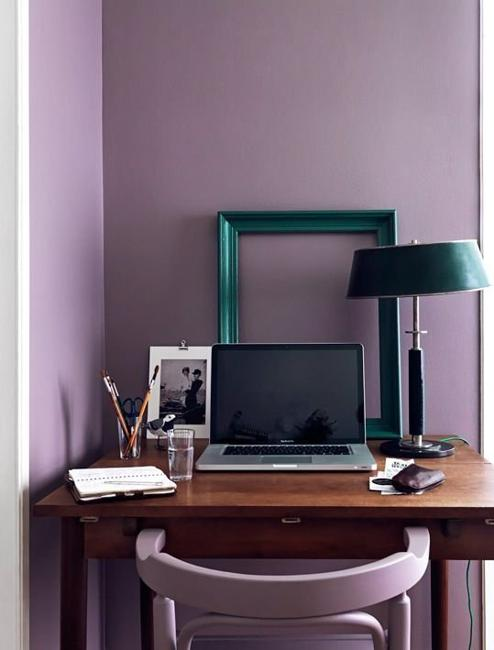 light pastels of purple colors, modern wall paint colors