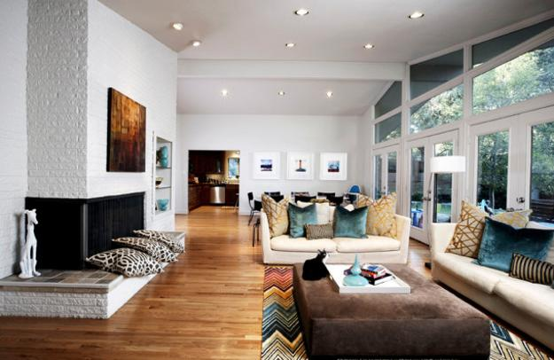 Black And White Living Room Design Ergonomic Furniture Placement