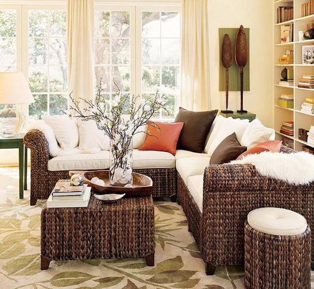 Green Home Design Ideas: Wicker Furniture Adding Cottage Decor Feel To Modern