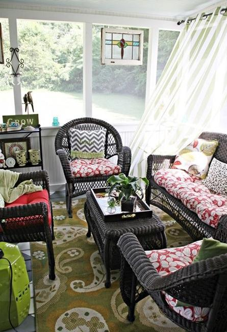 Wicker Furniture Adding Cottage Decor Feel To Modern