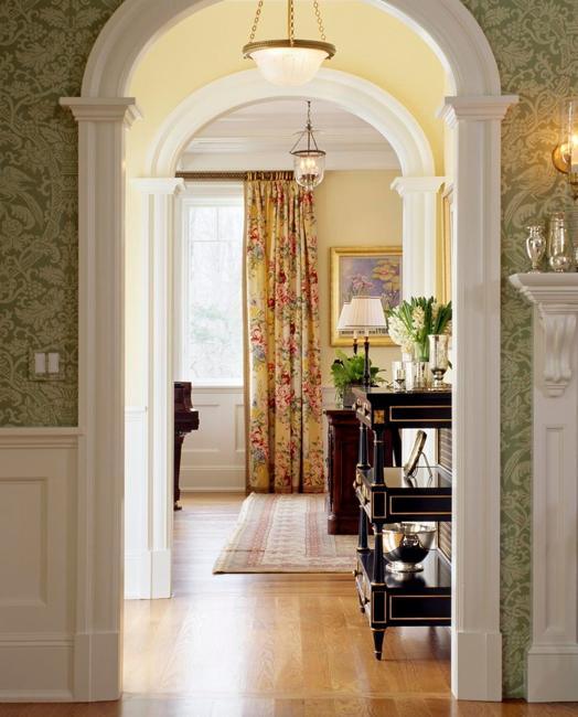 Modern Interior Design With Decorative Pilasters Adding