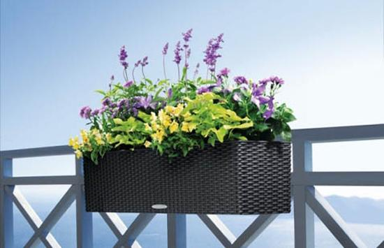 Plastic Planters For Railings Porch Decorating And Balcony Designs
