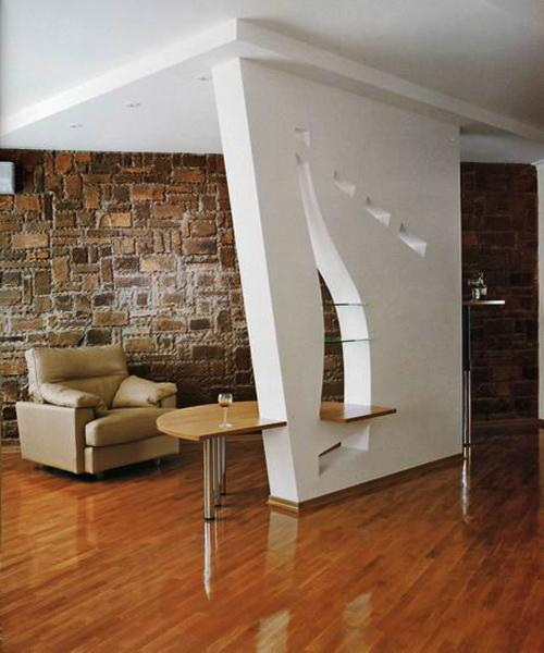 Creative Partition Wall Design Ideas Improving Open Small Spaces
