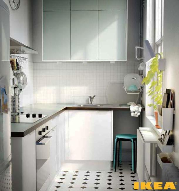 Modern Mini Kitchen Design: Ways To Open Small Kitchens, Space Saving Ideas From IKEA