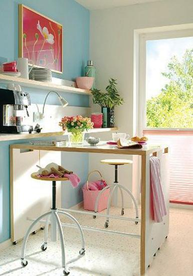 compact dining table and stool