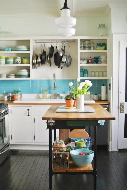 21 space saving kitchen island alternatives for small kitchens - Space saving kitchen island ...