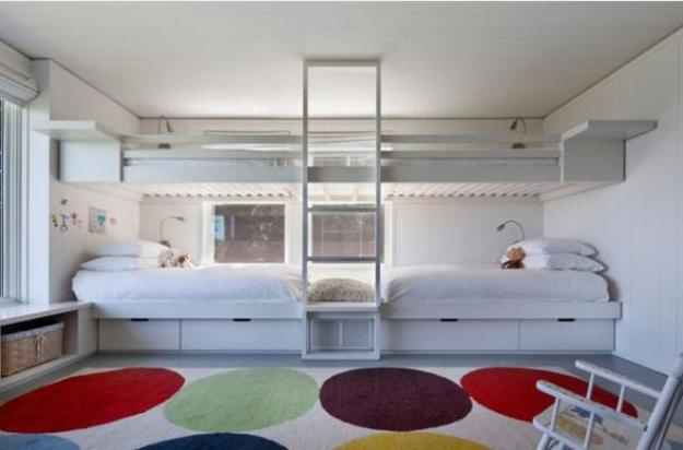 Four Bunk Beds For Kids Room Design Maximizing Space And Functionality