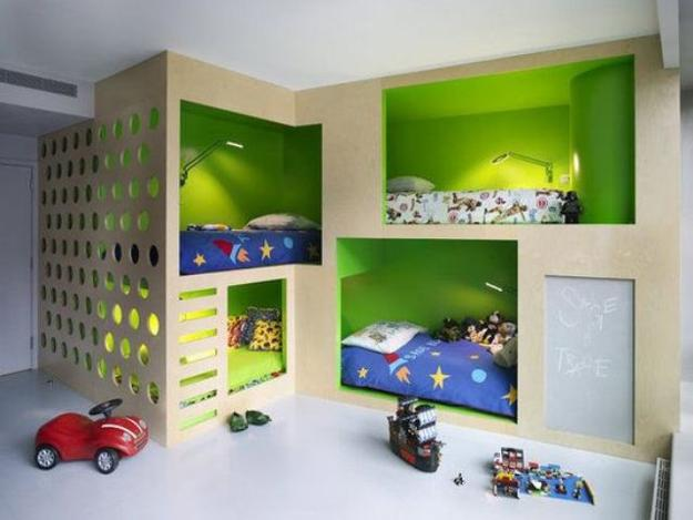 kids room interior design contemporary children beds built in bedroom furniture for kids rooms four bunk beds kids room design maximizing space and functionality