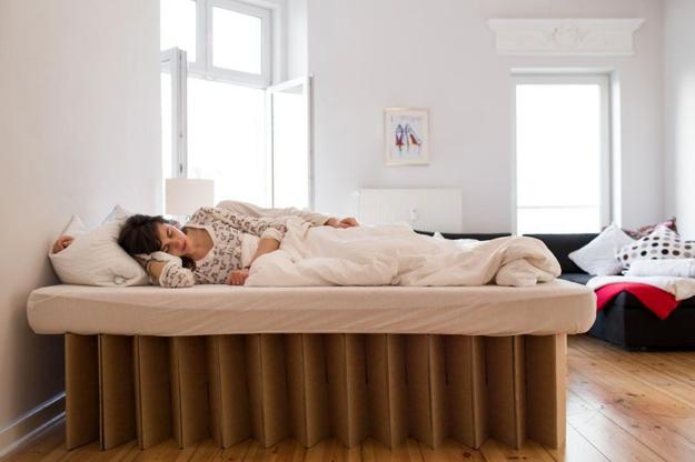 Cardboard Beds Offering Simple And Light Furniture Design
