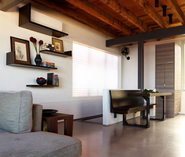 Small Living Room Decorating Idea: Designer Tips To Integrate Heat Pump And Air Conditioner