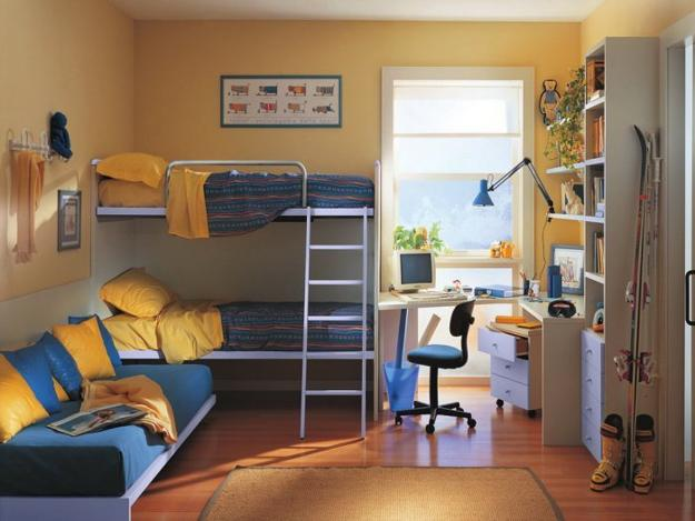 wonderful bedroom storage ideas creative purple kids design | 30 Three Children Bedroom Design Ideas