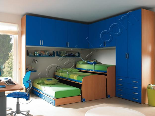 Small Kids Room 2 Beds