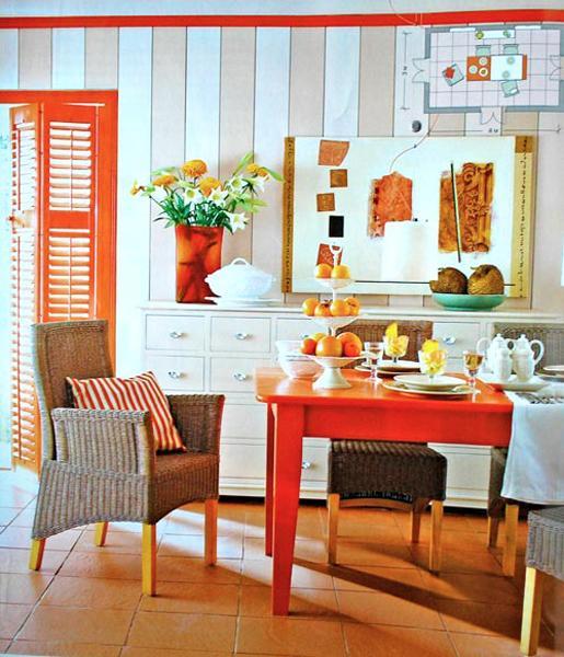 Bright Orange And White Decorating Ideas