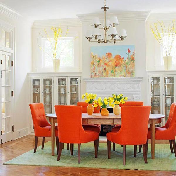 Dining Room Color Ideas: How To Use Orange Colors Creatively And Add Interest To