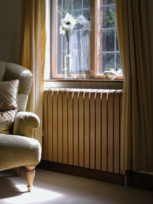 Modern Interior Decorating With Colorful Radiators And Attractive Decorative Screens