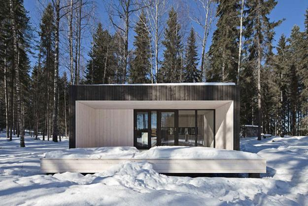 Metal glass and wood homes in snow modern house designs - Exterior design of modern houses ...