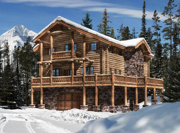 Metal, Glass and Wood Homes in Snow, Modern House Designs