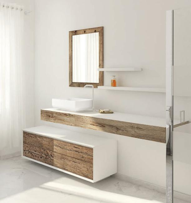 Beautiful Weathered Wood Bathroom Furniture