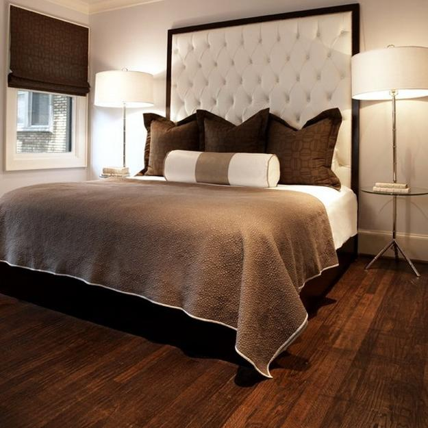 Wooden Floor And Brown Bedroom Colors
