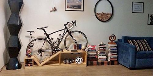 Modern Furniture Design, Bike Stand And Show Storage Shelf