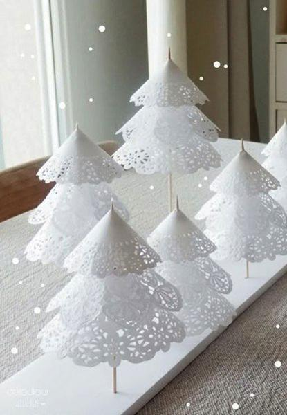 handmade christmas decorations miniature xmas trees - 2017 Christmas Trends Decor